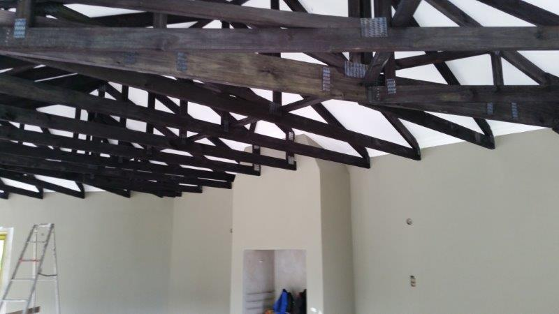 Exposed Roof Trusses