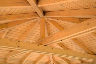 Exposed trusses ceilings decorative architectural for Custom roof trusses
