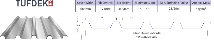 Tufdek IBR roof sheet